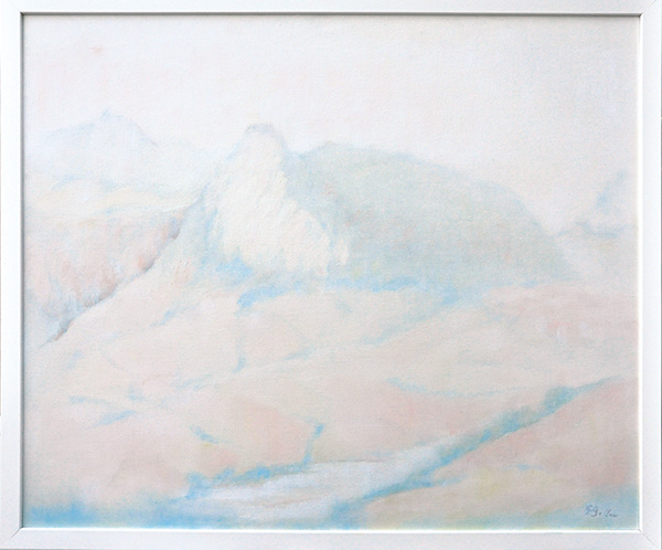Pietracuta sul Marecchia - Olio su tela 50x50