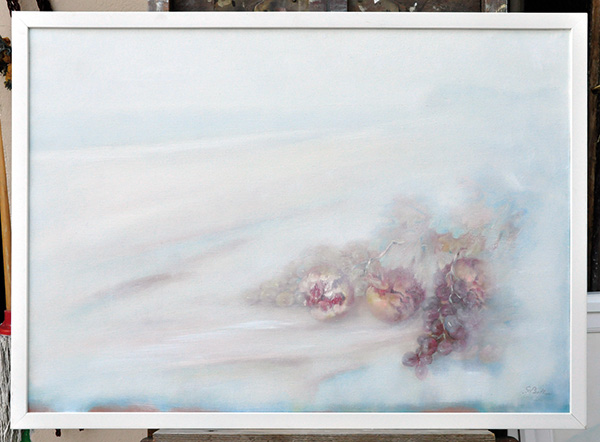 Marina con melagrane - Olio su tela 50x70
