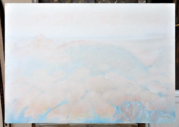 Campagna Verucchiese - Olio su tela 50x70