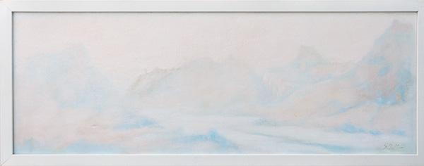 Da monte a mare - Olio su tela 30x70