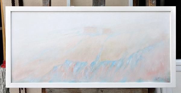Calanchi nel torrianese - Olio su tela 35x70