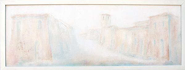 Borgo Antico Montebello Torriana - Olio su tela 30x70