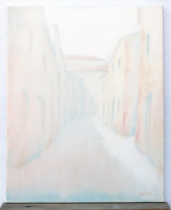 Borgo Montegridolfo - Olio su tela 40x50