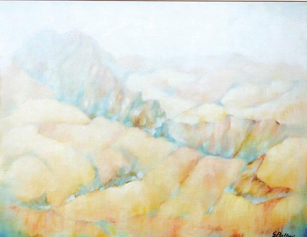 Calanchi - Olio su tela 60x40