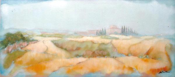 Campagna Toscana - Olio su tela 70x30