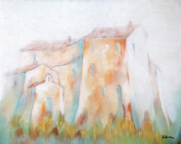 Castello di Piega - Olio su tela 50x50