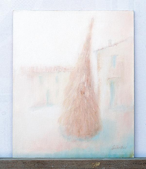 Il pagliaccio Cerreto - Olio su tela 25x30