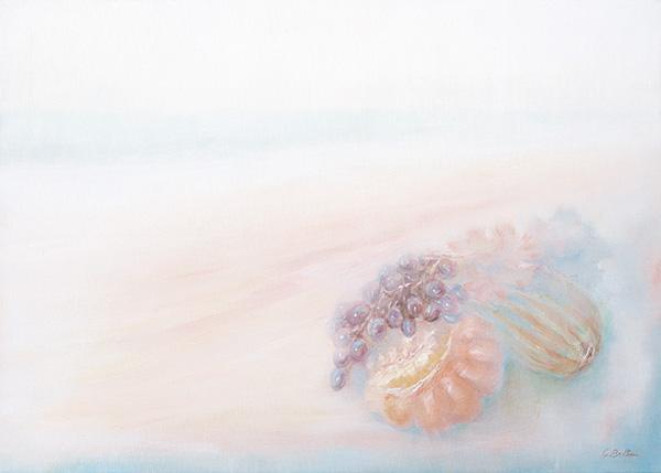 Marina con zucche - Olio su tela 50x70