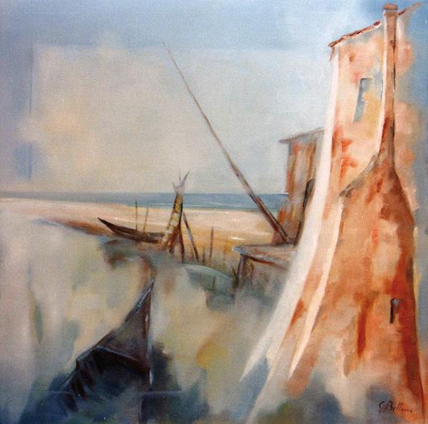 Marina polesana - Olio su tela 50x50