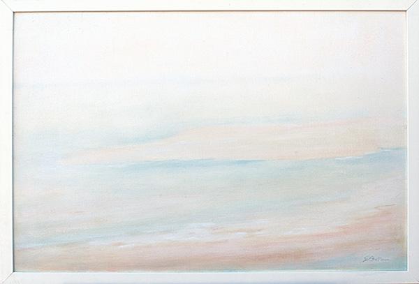 Marina, l'isola dei gabbiani - Olio su tela 60x40
