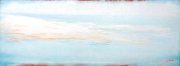 Marina - Olio su tela 70x25