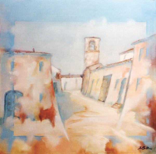 Montebello - Olio su tela 50x50