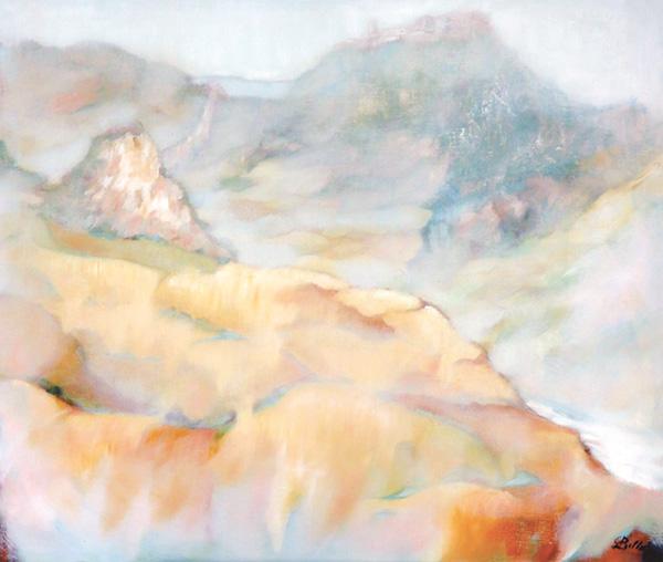 Montebello sul Marecchia - Olio su tela 80x60