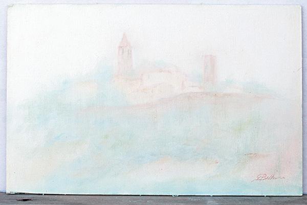 Montecolombo - Olio su tela 25x35