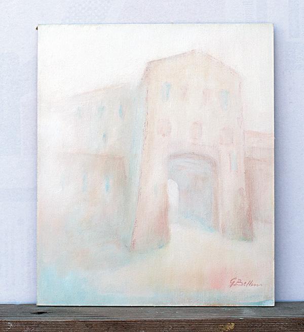 Porta Curina Montefiore - Olio su tela 25x30
