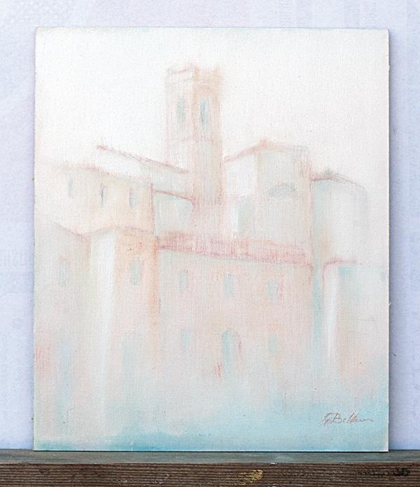 San Clemente - Olio su tela 25x30