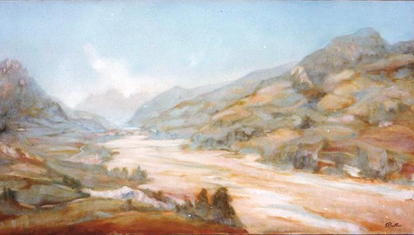 Valmarecchia da monte a mare - Olio su tela 100x70