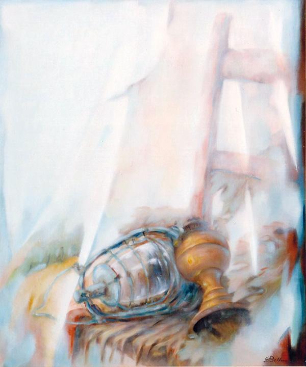 Vecchi lumi - Olio su tela 50x70